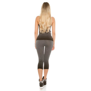2-TEILIGES WORKOUT SPORT-SET JOGGING TOP+HOSE GRAU/SCHWARZ