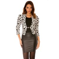 TRENDY WAISTED LADIES BLAZER JACKET GRAPHIC DESIGN...