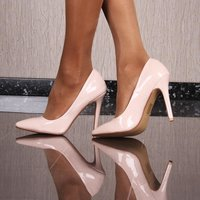 Sexy Pumps High Heels Abendschuhe aus Lackleder-Imitat...