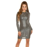 GLAMOUR PARTY LONG-SLEEVED MINIDRESS WITH GLITTER...