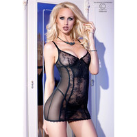 SEXY LADIES TULLE CHEMISE WITH LACE INCL. THONG LINGERIE...