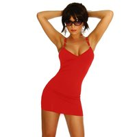 Sexy mini dress with metal rings go-go clubwear red