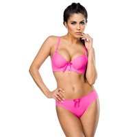 Sexy ladies underwear bra set lingerie fuchsia UK 10 80 B