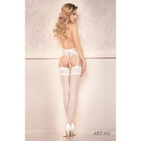 Sexy Ballerina ladies hold-up nylon stockings with lace...
