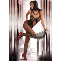 Hot crotchless fishnet bodystocking catsuit lingerie...