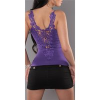 SEXY LADIES STRAPPY TOP WITH LACE AT THE BACK PURPLE
