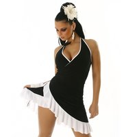 SEXY LATINO-DRESS SALSA BLACK/WHITE
