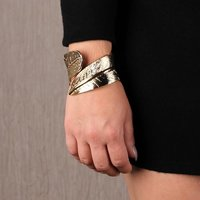 Edler Damen Party Armreif Armband Modeschmuck Gold