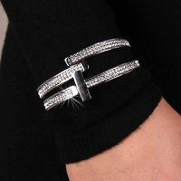 Precious womens party armlet bracelet with rhinestones...