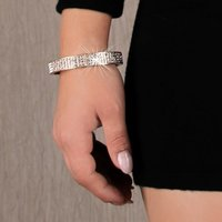 Precious womens party armlet bracelet with rhinestones gold