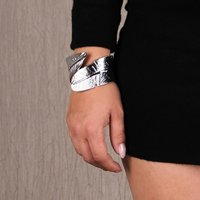 Precious womens party armlet bracelet silver