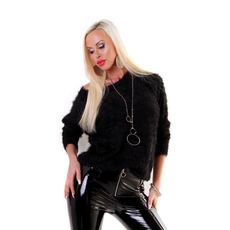 c90558914f5b1c Damen-Kuschelpullover aus flauschig weichem Effektgarn, 26,95 €
