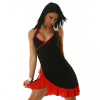 SEXY LATINO-DRESS SALSA BLACK/RED