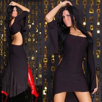 Sexy cocktail dress club gogo black