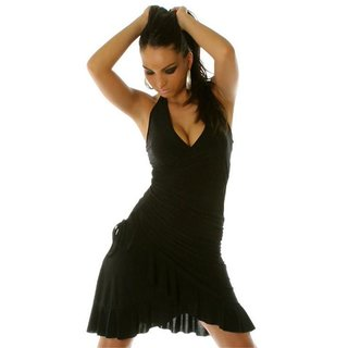 SEXY LATINO-DRESS SALSA BLACK