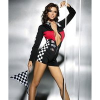 SEXY RACING OVERALL GOGO CLUBWEAR BLACK/RED