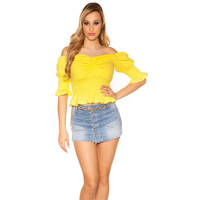 Sexy womens off-shoulder shirt latina style short-sleeved...