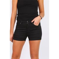 Sexy womens stretch jeans shorts with turn-up black