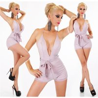 Sexy womens halterneck playsuit with glitter pink Onesize...