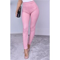 Close-fitting womens leggings wet look croc pattern...