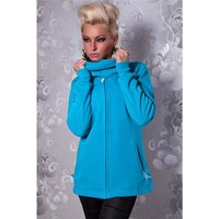 ELEGANT ZIPPER-JACKET WITH STANDING COLLAR TURQUOISE