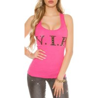 Sexy womens tanktop with lettering VIP and rhinestones...