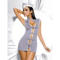 Sexy 3 pcs stewardess outfit costume gogo clubwear grey...