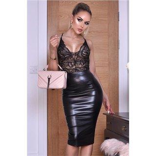 Womens Leopard Printed Midi Skirt Ladies High Waist Wrap Dress Cocktail Clubwear
