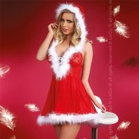 Sexy 2 pcs womens Santa baby Christmas costume red/white...