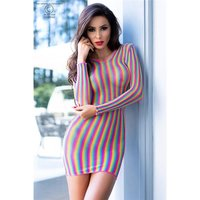 Mesh club mini dress transparent in colours of the...