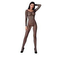 Sexy crotchless fishnet bodystocking catsuit lingerie black