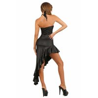 Long salsa dress Latino dress in wet look black