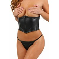 Sexy womens underbust faux leather corsage black