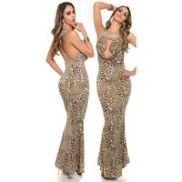 Precious glamour evening dress with rivets rhinestones...