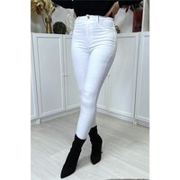 Sexy womens skinny high waist jeans white