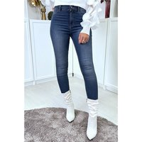 Sexy skintight womens drainpipe jeans dark blue