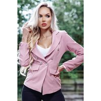 Elegant womens blazer jacket with buttons antique pink