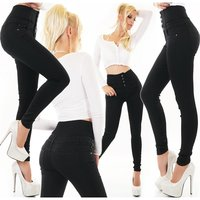 Womens skinny high waist jeans black