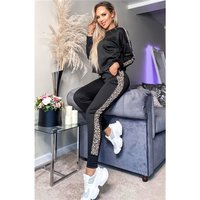 Womens long-sleeved loungewear set jogging outfit...