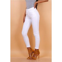 Skinny womens drainpipe jeans in 5-pocket style white