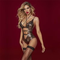 Sexy 3 pcs body set with stockings animal print snake look