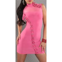 SEXY MINIDRESS PARTY DRESS WITH LACING FUCHSIA