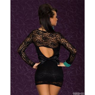 Elegant evening dress made of lace black