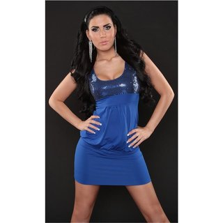 Sexy mini dress party dress with sequins royal blue