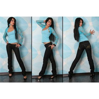 SEXY BT LOW CUT JEANS SCHWARZ