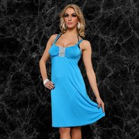 SEXY STRAP DRESS MINIDRESS WITH GLITTER-RIBBON TURQUOISE