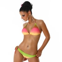 Sexy Neckholder Push-Up Bikini Beachwear Multicolor 36