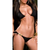 Sexy halterneck bikini beachwear black UK 8 (S)